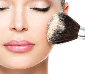 apply loose powder